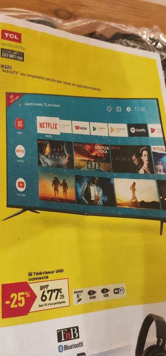 """TV 70"""" TCL 70EP615 - 4K UHD"""