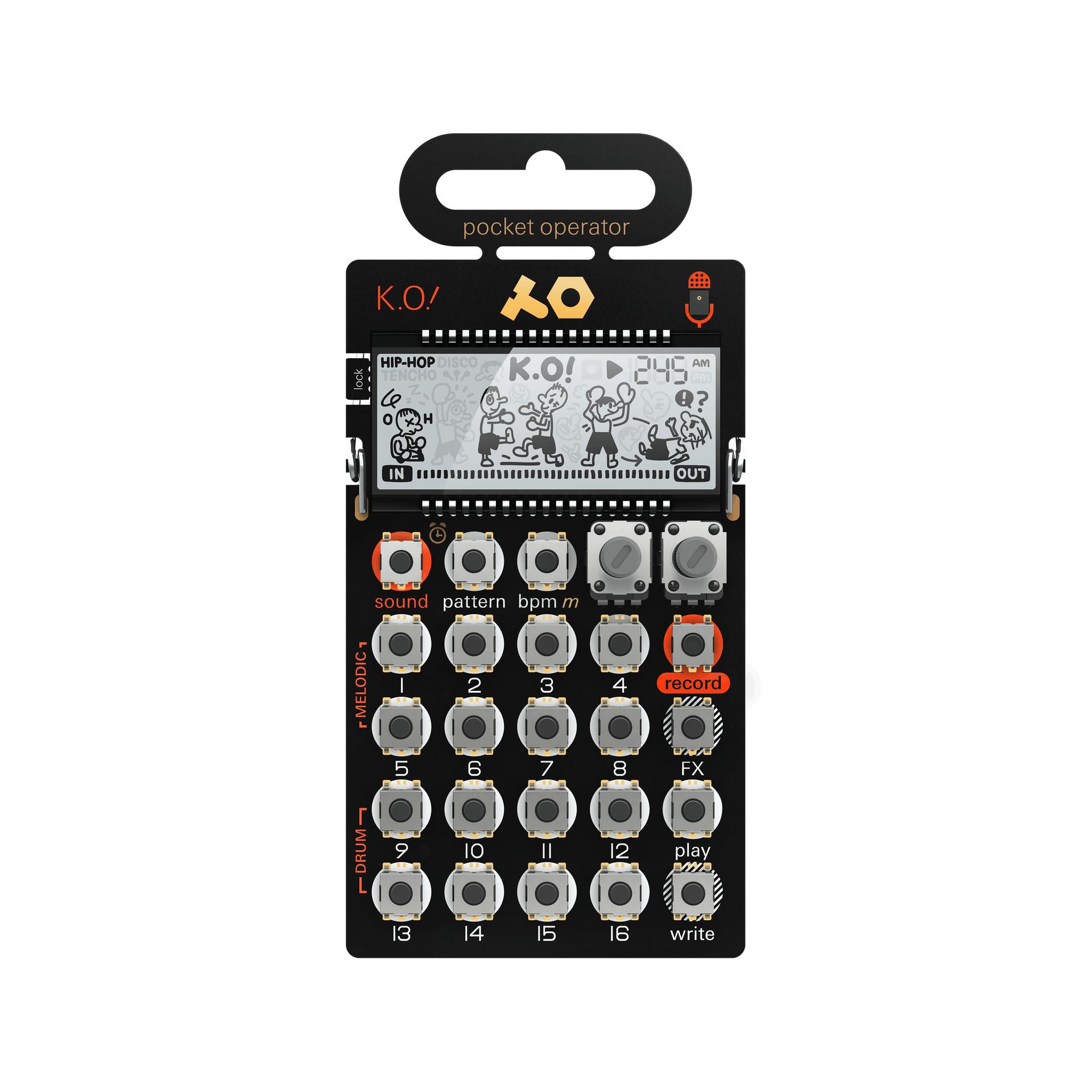 Mini synthétiseur/sampleur Pocket Operator PO-33 KO