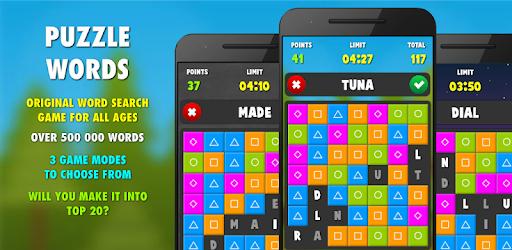 Sélection de jeux gratuits - Ex : Puzzle Words Pro sur Android