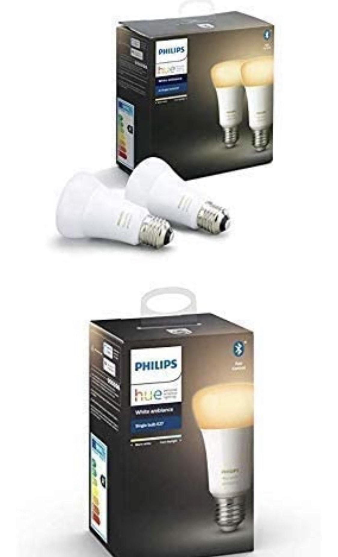 3 Ampoules LED Connectées Philips Hue White Ambiance E27