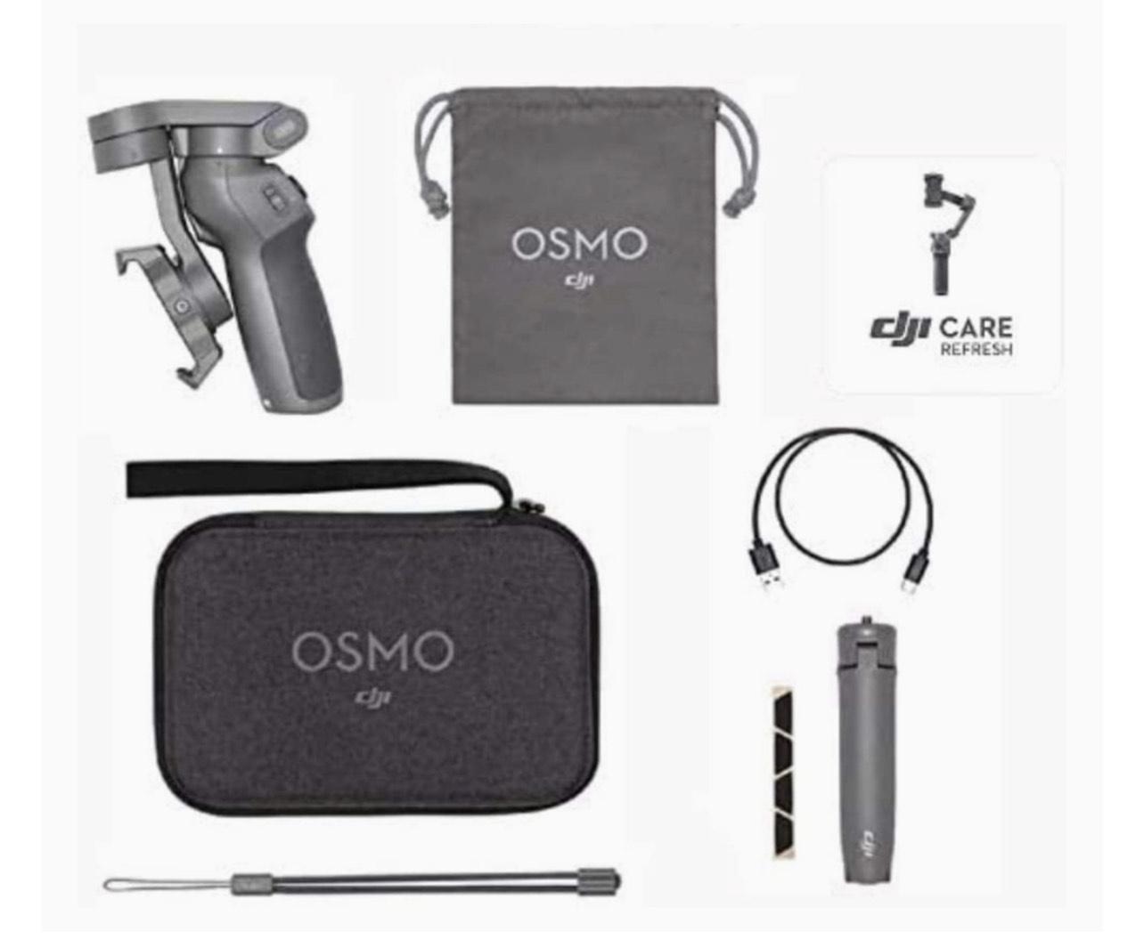 DJI Osmo Mobile 3 Prime Combo - Kit Stabilisateur de Cardan 3 Axes avec Care Refresh