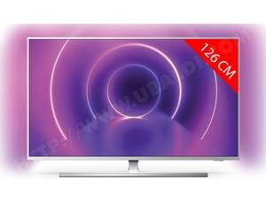 """TV LED 50"""" Philips 50PUS8555 - 4K UHD, Ambilight 3 côtés, Micro Dimming Pro, HDR Dolby Vision & Dolby Atmos, HDR10+"""
