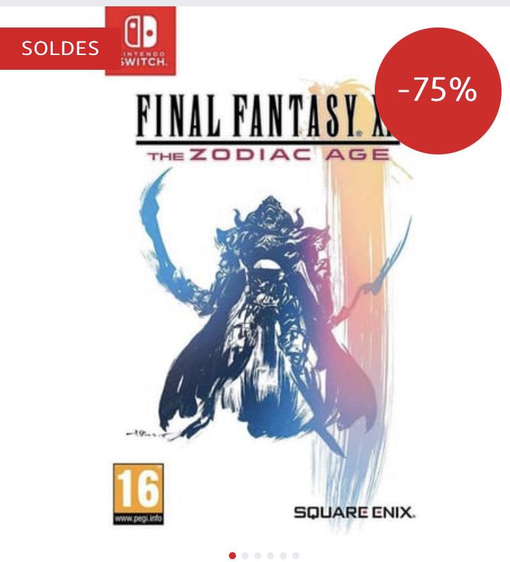 Jeu Final Fantasy XII : The Zodiac Age sur Nintendo Switch