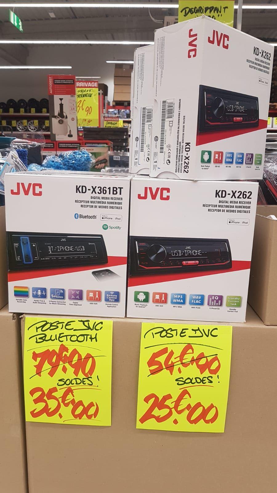 Sélection d'auto-radios en promotion - Ex : JVC KD-X262 - Mauguio (34)