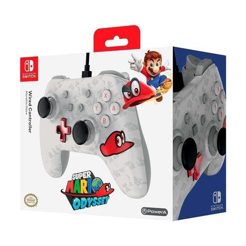 Manette filaire pour Nintendo Switch Édition spéciale Mario Odyssey