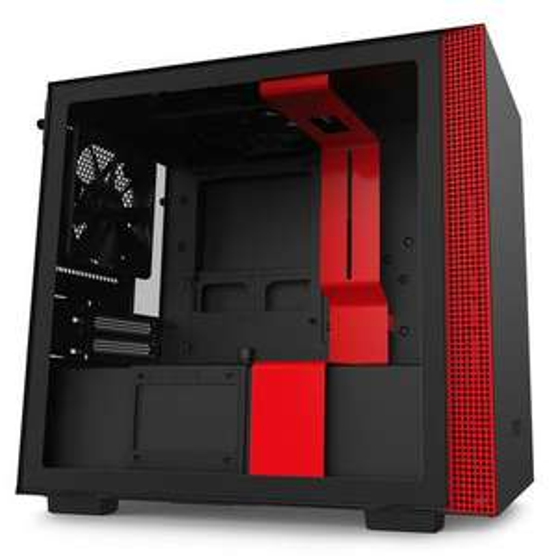 Boitier PC NZXT H210 - noir mat/rouge