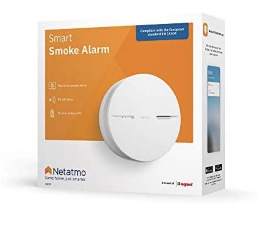 Détecteur de Fumée Intelligent Netatmo NSA-FR - Certifié NF et EN14604