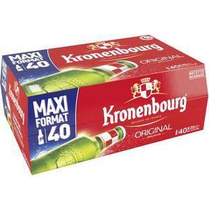 Lot de 40 Bouteilles de 25 cl de Kronenbourg (avec 50% sur la carte)