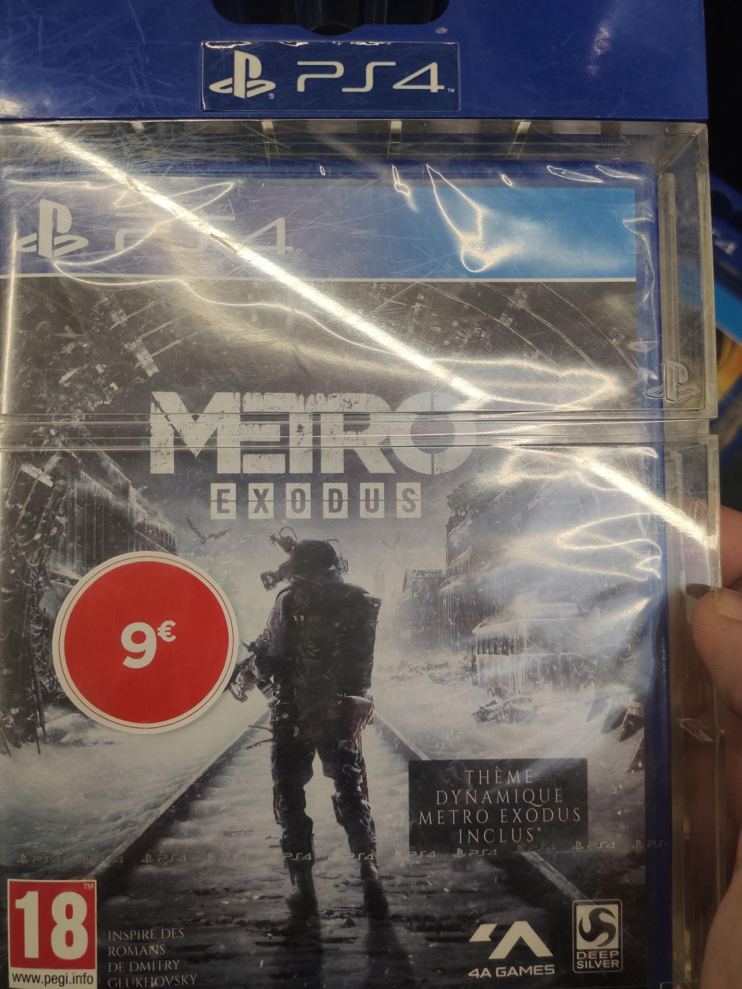 Sélection de jeux PS4 en promotion (Ex : Metro Exodus) - Claira (66)