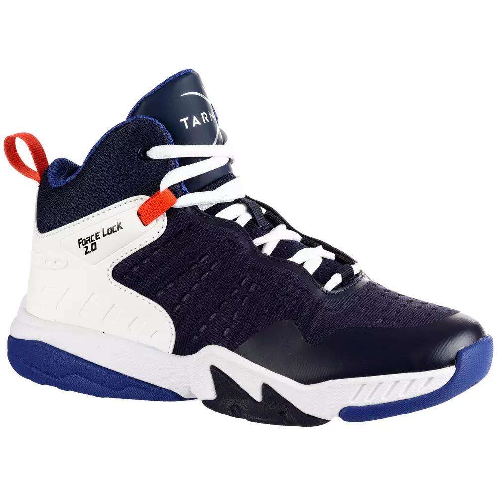 Chaussures de basketball enfant Tarmak Navy SS500H