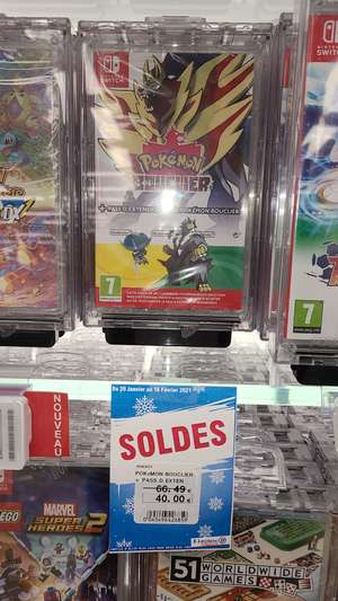 Sélection de jeux vidéo en promotion - Ex : Pokémon Bouclier + Pass d'Extension sur Switch - Saint-Isidore (06)