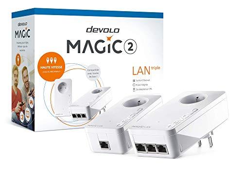 Prises CPL Devolo Magic 2 LAN starter kit (en 1+3 prises gigabit)