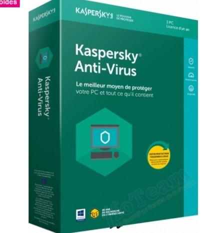 Sélection d'antivirus Kaspersky en promotion - Ex : Version 2018, 3 PC, 1 An