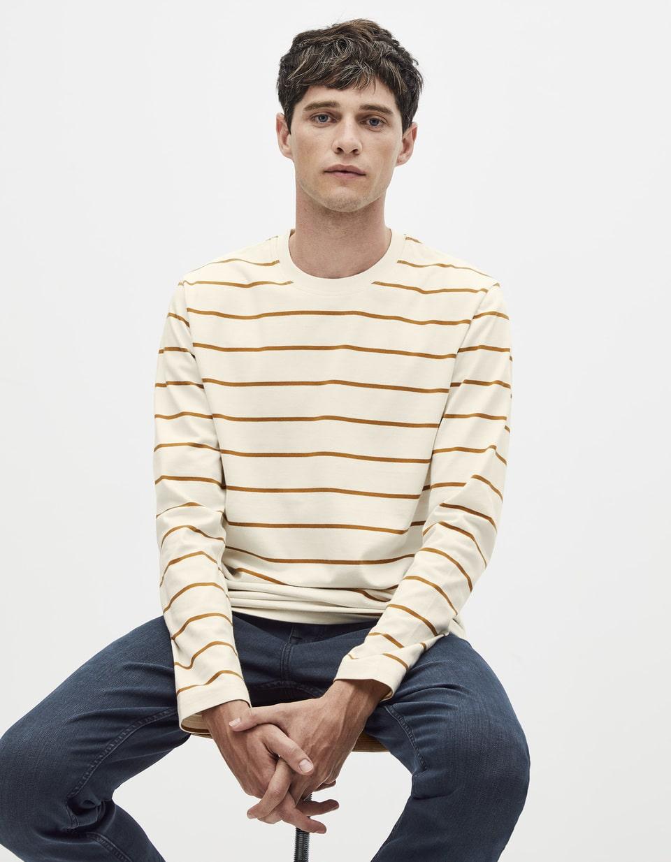T-shirt Homme 100% coton marinière