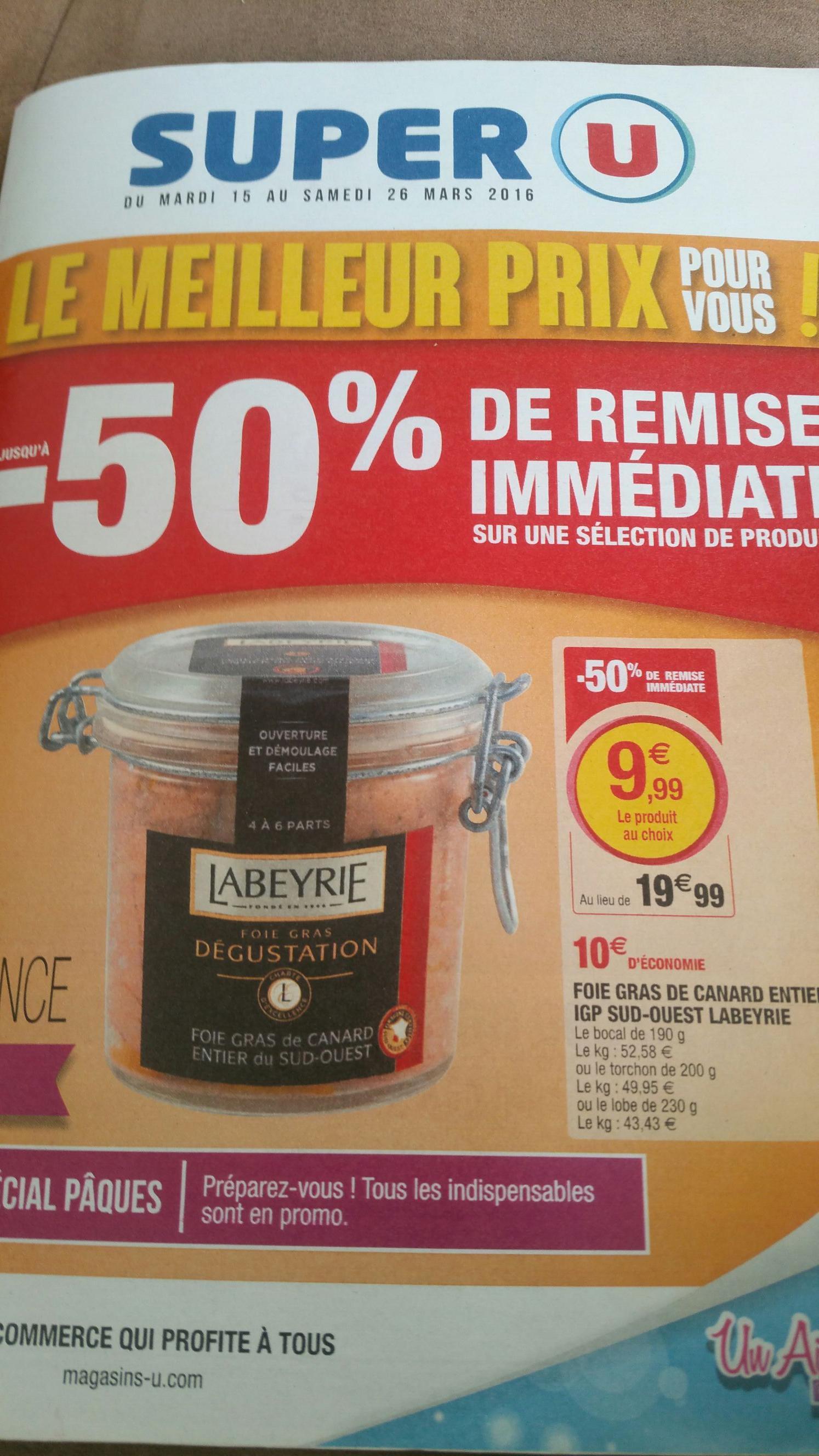 Sélections de foies gras en promo - Ex : Bocal de Foie gras Labeyrie - 200g