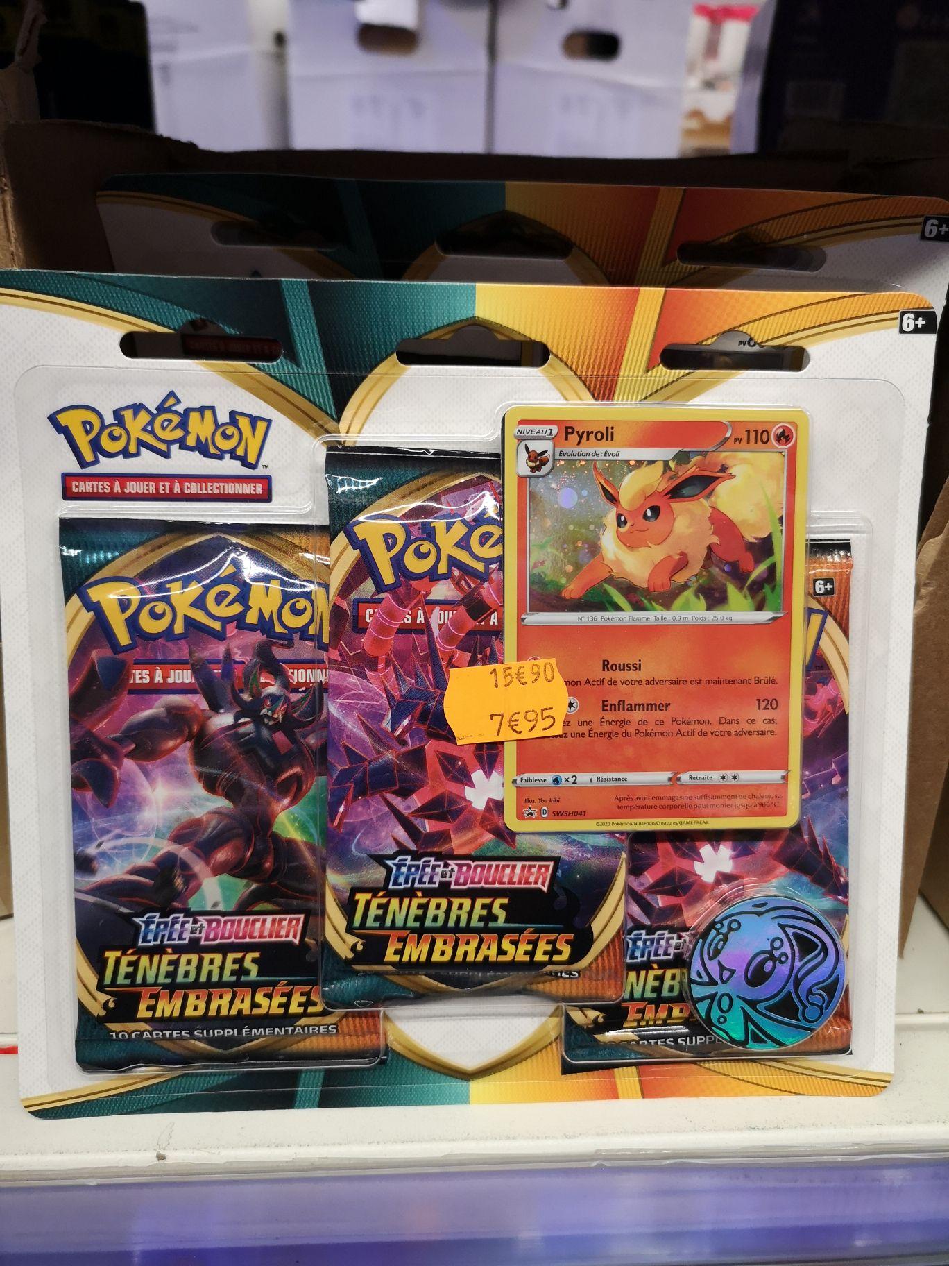 Sélection de pack de cartes Pokemon Épée et Bouclier ténèbres embrasées en promotion - Les Arcades Noisy le grand (93)