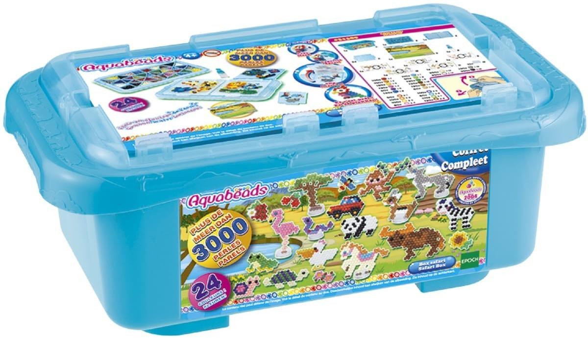 Kit créatif Aquabeads La Box Safari - bleu