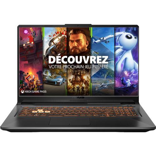 "PC Portable 17.3"" Gaming Asus TUF706IU-H7302T - Ryzen 7 4800H, 16 Go RAM, 256 Go SSD + 1 To, Windows 10"
