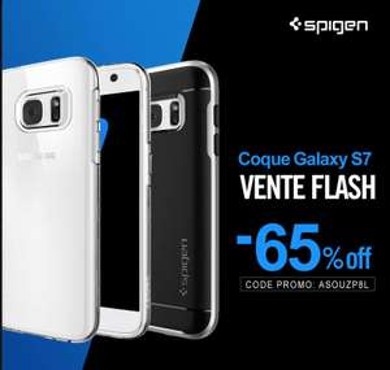 65% de réduction sur une sélection de coques - Ex : Coque Galaxy S7 Spigen - Neo Hybrid