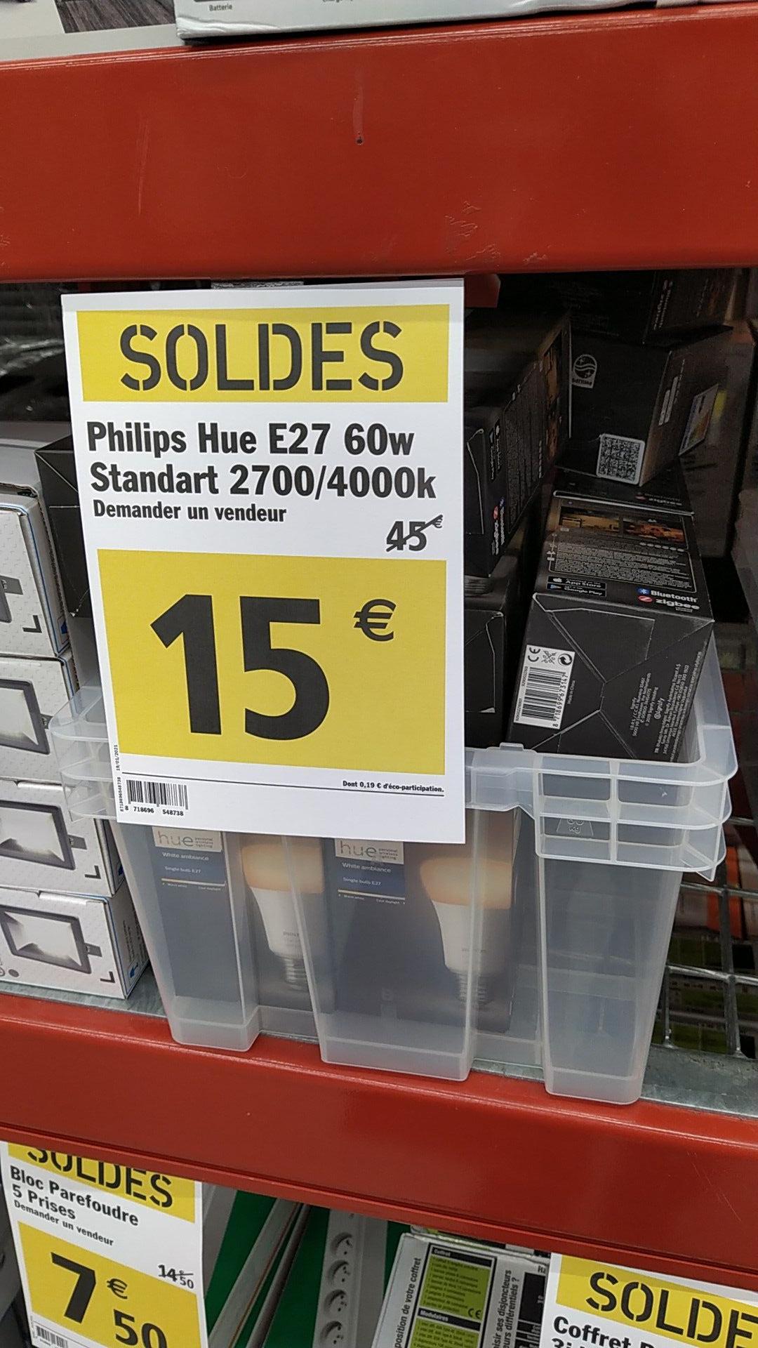 Ampoule LED connectée Philips Hue White Ambiance E27 - Étoile-sur-Rhône (26)