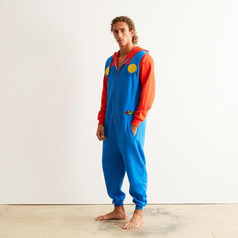 Combinaison Mario - bleu pour Homme