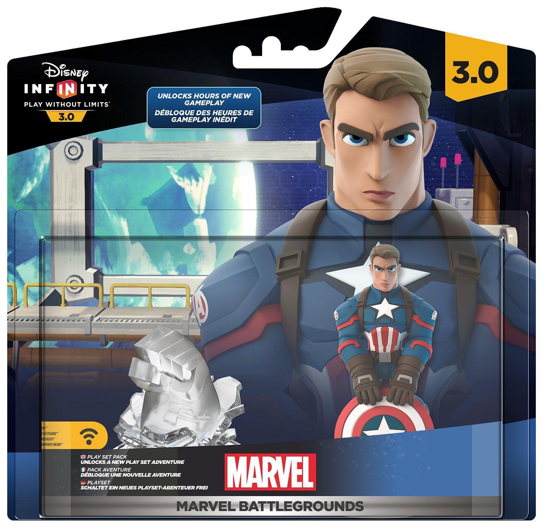 1 pack Marvel Battlegrounds acheté = 1 bon de 10€ de réduction sur une figurine Disney Infinity 2.0