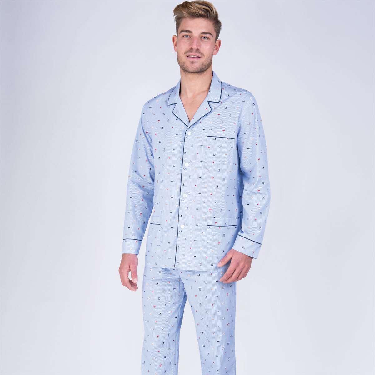 Sélection d'articles Eminence en promotion - Ex : Pyjama long boutonné homme Faites vos jeux