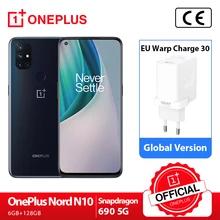 "Smartphone 6.49"" OnePlus Nord N10 - 5G, Full HD+ 90 Hz, RAM 6 Go, 128 Go (Entrepôt France)"