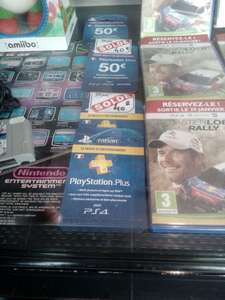 Carte PlayStation Network de 50€ / abonnement PlayStation Plus de 12 mois