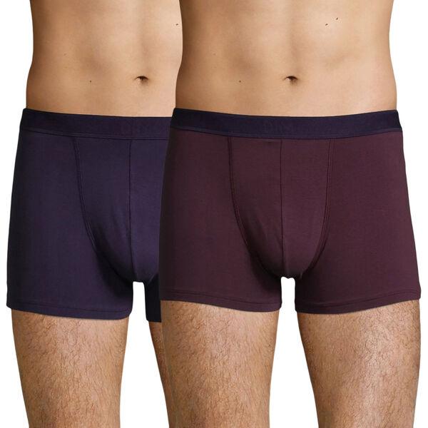 Lot de 2 boxers Homme DIM Coton Stretch (Violet) - plusieurs tailles