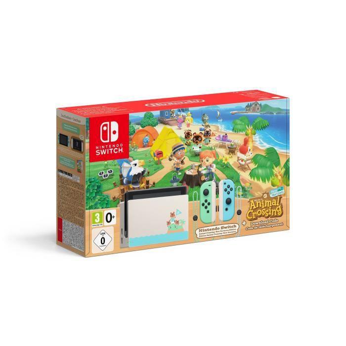 Console Nintendo Switch Edition Animal Crossing + Jeu Animal Crossing New Horizons