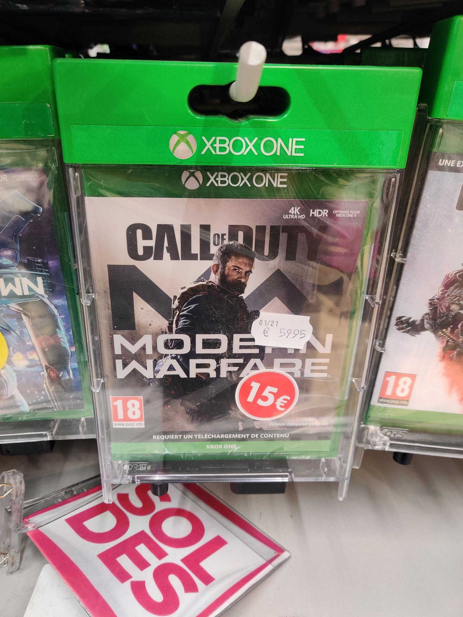 Jeu Call of Duty Modern Warfare sur Xbox One -- Gruchet-le-Valasse (76)