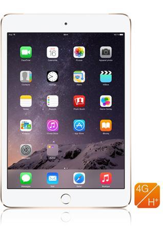 """Tablette tactile 7.9"""" Apple iPad Mini 3 (4G, 16 Go, Or) + Forfait 1 mois Let's Go sans engagement"""