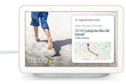 """Enceinte intelligente 7"""" Google Nest Hub - coloris charbon ou galet"""