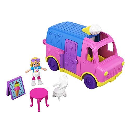Jouet enfant Polly Pocket Pollyville Le Camion de Glaces GGC40