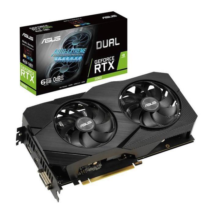 Carte Graphique Asus Dual GeForce RTX 2060 OC Edition EVO - 6 Go