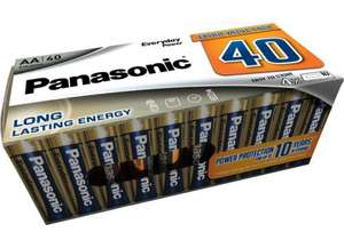 Pack de 40 piles Panasonic - LR3 AAA ou LR6 AA
