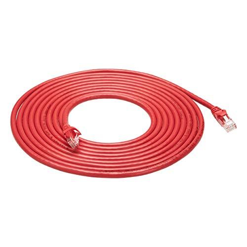 Lot de 5 câbles Ethernet AmazonBasics - cat. 6, 4.6 m, rouge