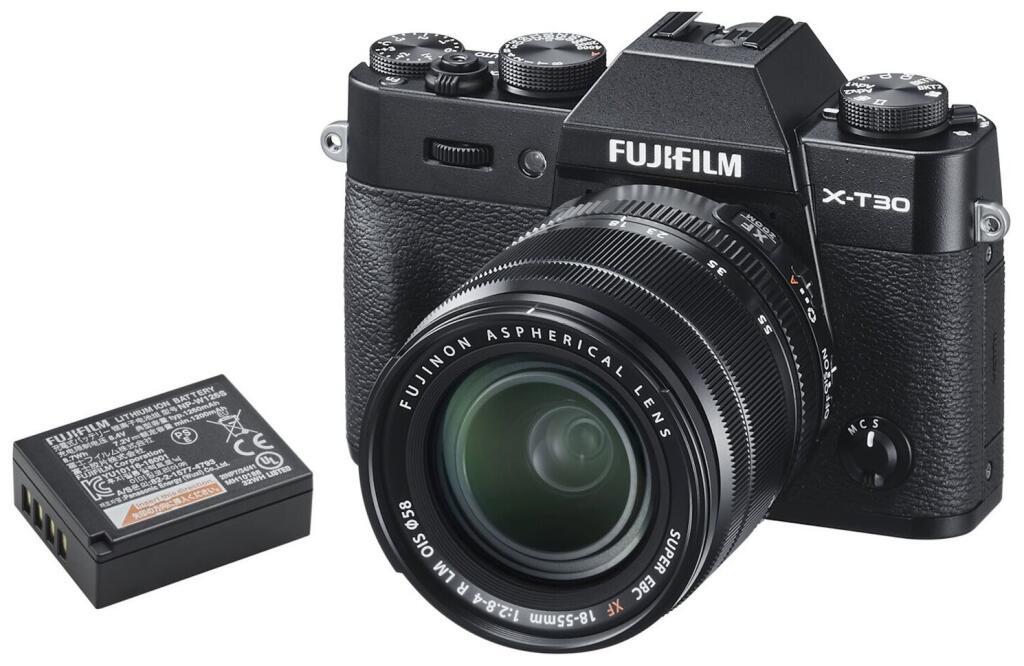Appareil photo hybride Fujifilm X-T30 (noir) + Objectif XF 18-55 mm + 2ème batterie