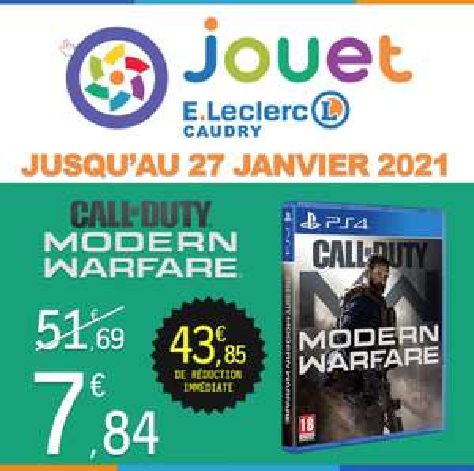 Jeu Call Of Duty: Modern Warfare sur PS4 - Caudry (59)