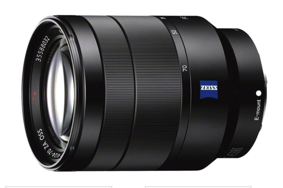 Objectif photo Sony 24-70mm f/4 Vario Tessar T* ZA OSS - Monture Sony FE