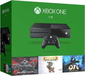 Console Xbox One 1 To + 3 jeux (Gears of War: Ultimate Edition, Ori and the Blind Forest et Rare Replay)