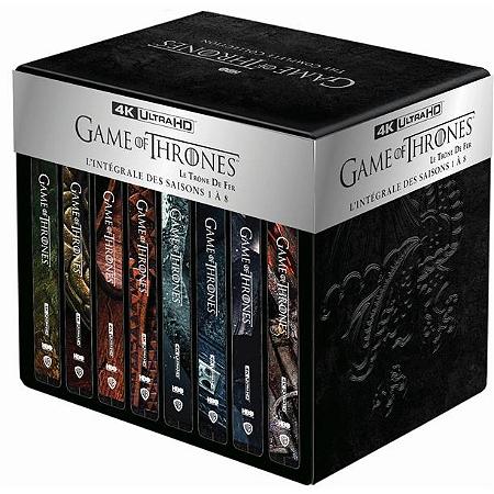Coffret Blu-ray 4K : Game of Thrones (Le Trône de Fer) - L'intégrale des saisons 1 à 8 + Steelbook