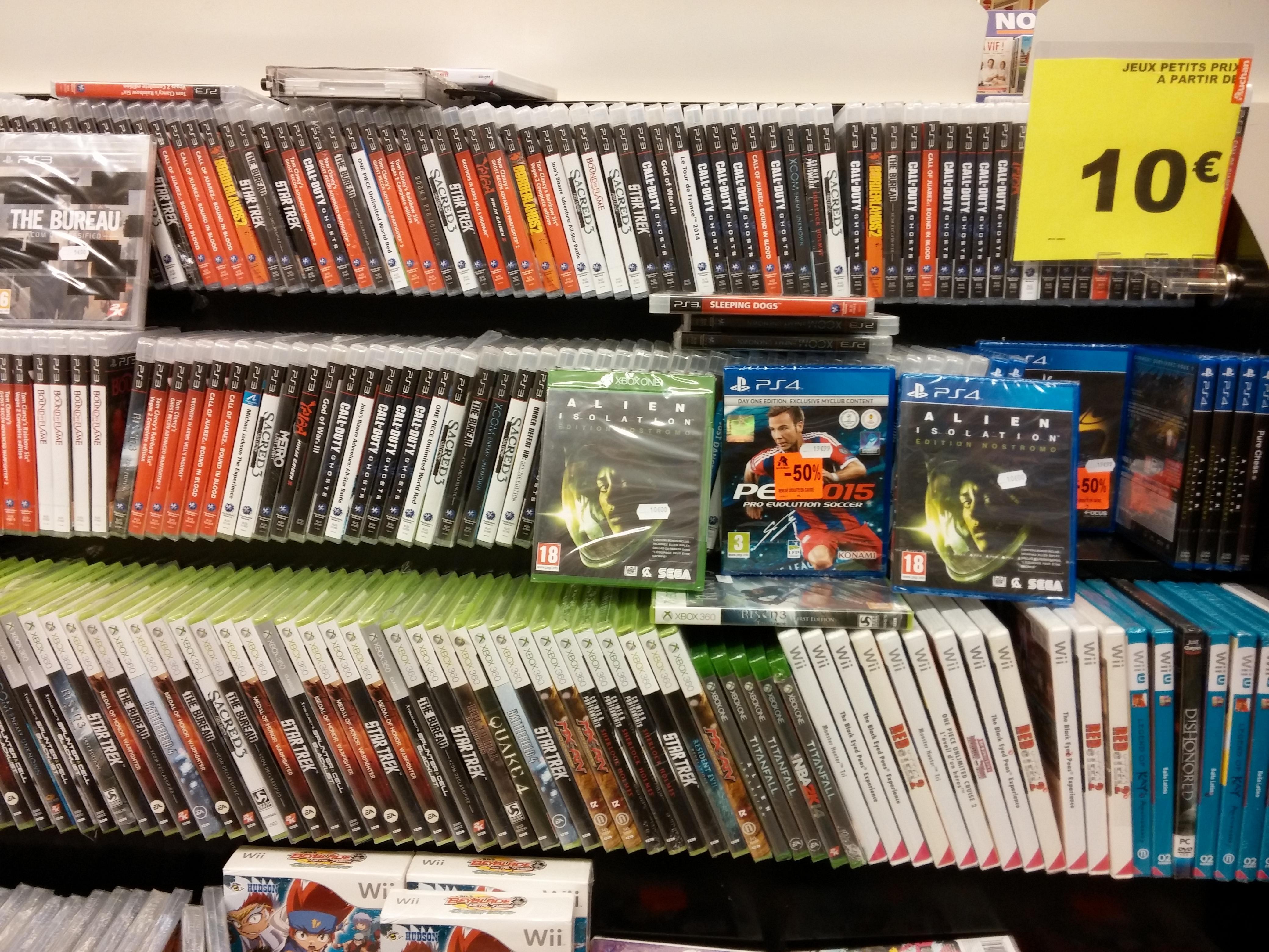 Sélection de jeux PS3/PS4 /WII/XBOX 360/PSP/DS en promotion - Ex : Alien Isolation Edition Nostromo sur Xbox One ou PS4