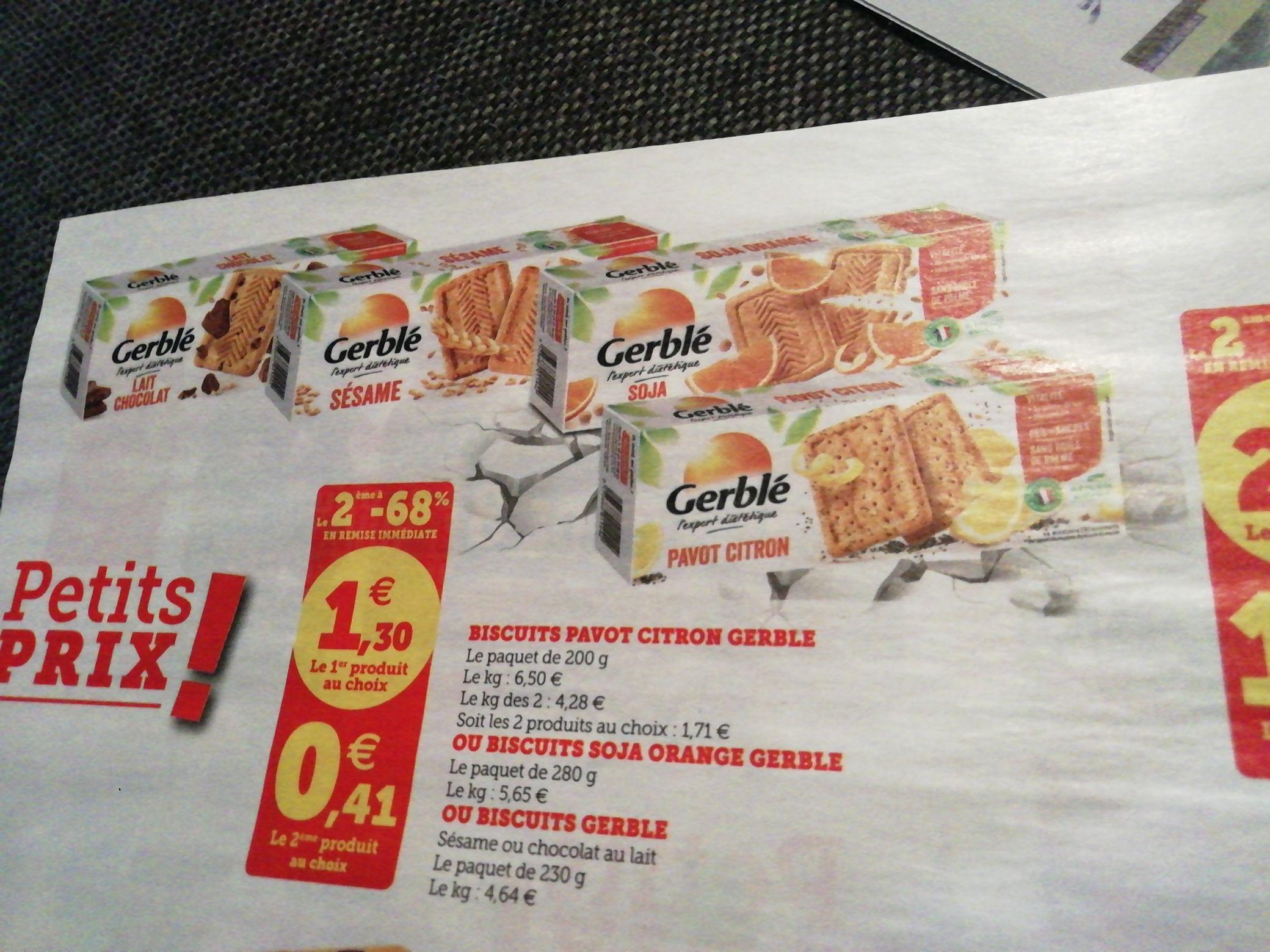 Lot de 2 paquets de biscuits Gerblé (Différentes varités)