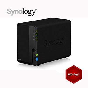 Serveur de stockage Synology DS218+ 6Go NAS 8 To (2x 4To) WD RED