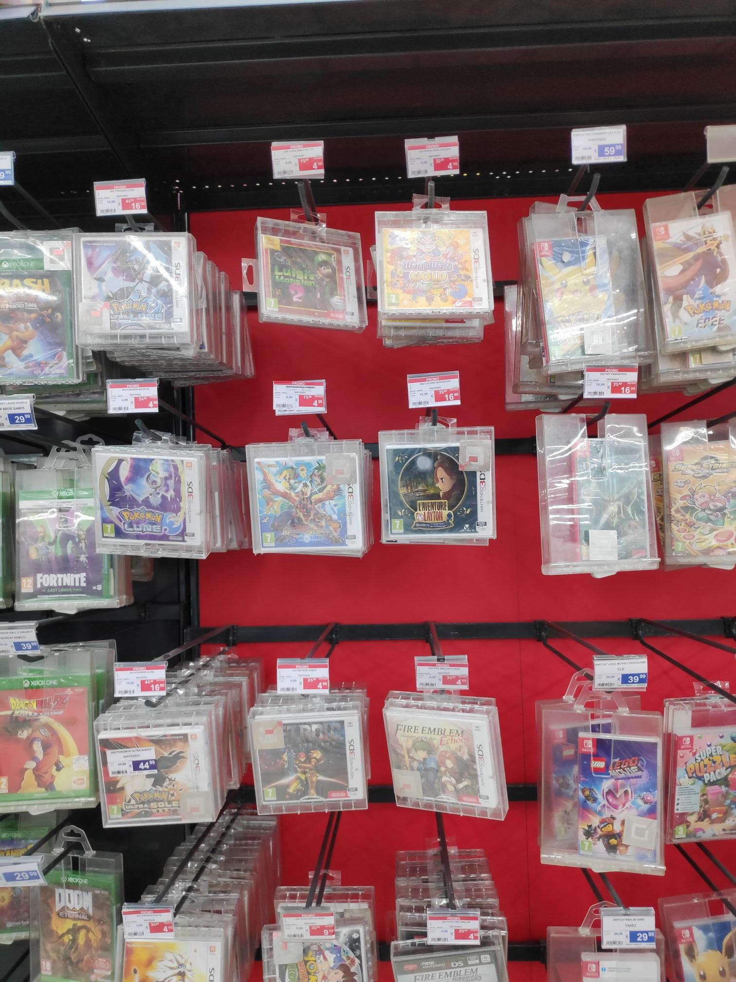Sélection de Jeux 3DS en promotion - Ex : Pokémon Lune - Woluwe (Frontaliers Belgique)