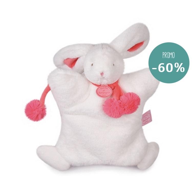 Sélection de produits en promotion - Ex : Marionnette lapin pompon fraise (lamaisondedoudou.com)