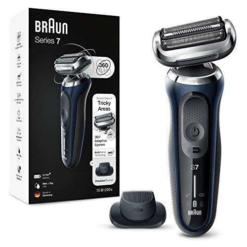 Rasoir à barbe électrique sans fil Braun Series 7 70-B1200s avec tête entièrement flexible et tondeuse de précision
