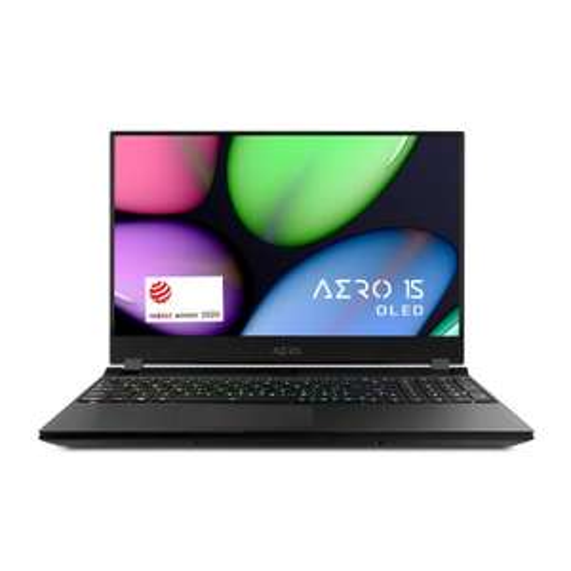 """PC Portable 15.6"""" Gigabyte Aero 15 OLED WB-9ES5150SP - 4K UHD, i9-10980HK, 16 Go RAM, 1 To SSD, RTX 2070 Max Q, Windows 10, QWERTY Espagnol"""